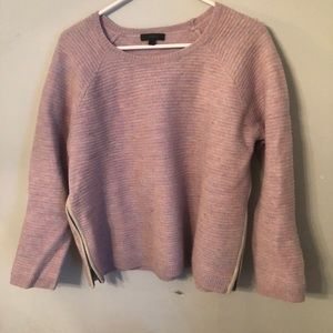 J. Crew Side Zipper Crew Neck Sweater EUC